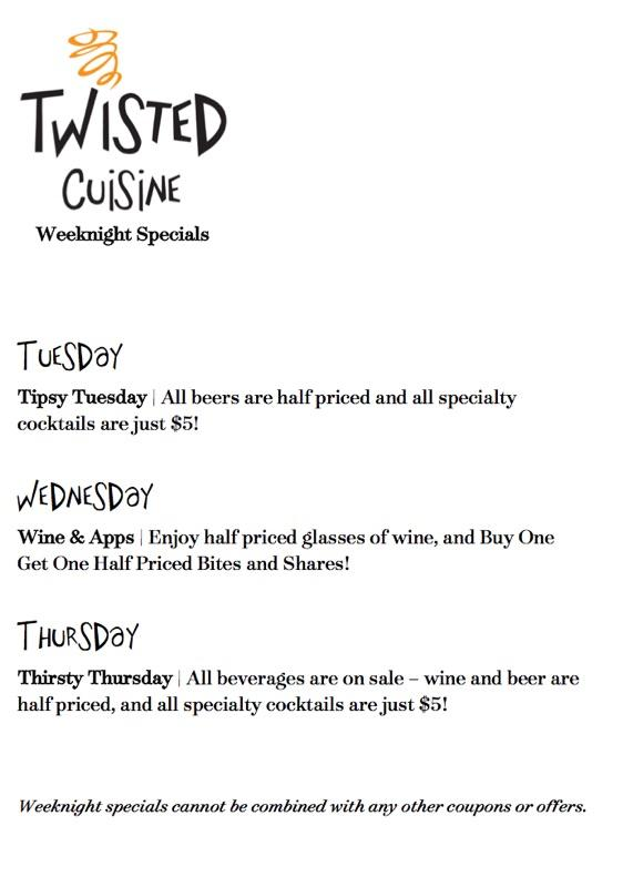 Twisted weeknight specials